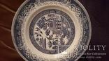 Старинная настенная фарфоровая тарелка восток, фото №4