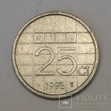 Нідерланди 25 центів, 1998