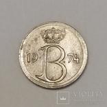 Бельгія 25 сантимів, 1974 фото 2