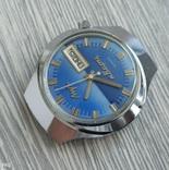Часы. Луч / электронно-механические / синие, фото №5