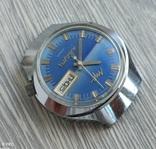 Часы. Луч / электронно-механические / синие, фото №6