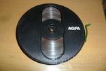 Бобина бабина катушка Agfa диаметр 12,5 см пленка магнитная лента, фото №2
