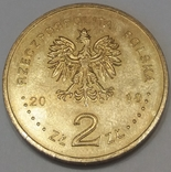 Польща 2 злотих, 2010 95-та річниця - Народження Яна Твардовського фото 2