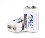Аккумуляторная батарея 9 вольт типа Крона li-ion 650 мАч с USB портом для зарядки