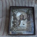 Старинная икона под стеклом (34х30 см), фото №2