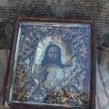 Старинная икона под стеклом (32х36 см), фото №4