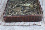 Старинная икона под стеклом (32х36 см), фото №12