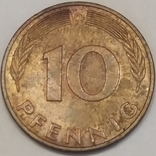 Німеччина 10 пфенігів, 1978