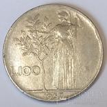 Італія 100 лір, 1957