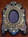 Фоторамка. Серебро, разноцветные эмали., фото №2