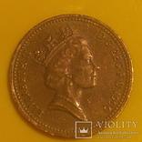 Велика Британія 1 пенні, 1990
