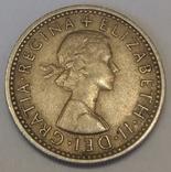 Велика Британія 6 пенсів, 1962