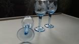 Рюмки синее стекло СССР, фото №3
