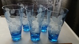 Стаканы СССР синее стекло, фото №2