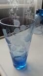 Стаканы СССР синее стекло, фото №6