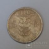 Бельгія 5 франків, 1964 фото 2
