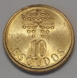 Португалія 10 ескудо, 1988
