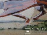 Сюжетная плитка кон. XIX нач. XX века. Австро-Венгрия или Германия. Майолика, фото №6