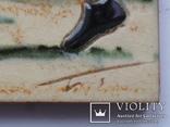 Сюжетная плитка кон. XIX нач. XX века. Австро-Венгрия или Германия. Майолика, фото №9