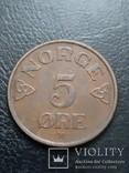 Норвегия 5 оре 1956, фото №2