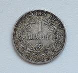 1 марка 1900 г. (А), Германия, серебро, фото №2