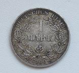 1 марка 1900 г. (А), Германия, серебро, фото №3