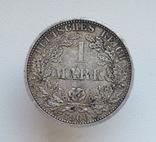1 марка 1900 г. (А), Германия, серебро, фото №7