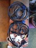 Разные шнуры, тюльпаны, зарядки, переходники, фото №2