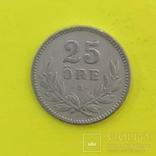 Швеція 25 ере, 1914р. Срібло., фото №2