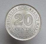 Британская Малайя 20 центов 1939 г.,, фото №2