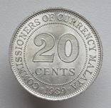 Британская Малайя 20 центов 1939 г.,, фото №3