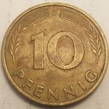Німеччина 10 пфенігів, 1981