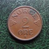 2  эре  1955  Норвегия   (6.2.42), фото №3
