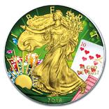 Серебро США.1 унция серебра (31.1 гр.).Эксклюзив!Тираж 100 монет!