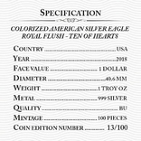 Серебро США.1 унция серебра (31.1 гр.).Эксклюзив!Тираж 100 монет! фото 4