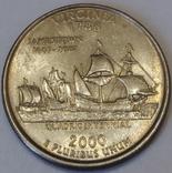 США ¼ долара, 2000 Квотер штату Вірджинія фото 1