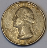 США ¼ долара, 1988