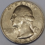 США ¼ долара, 1981