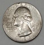 США ¼ долара, 1986