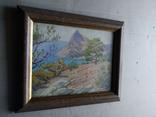 """""""Крым"""" к.м. 21х27 см., В.Крихацкий (1877-1942), фото №9"""