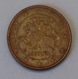 Литва 1 євроцент, 2015 фото 2