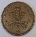 Велика Британія 2 нових пенса, 1971 фото 2