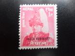 Британские колонии. Непал.  марка МVLН, фото №2