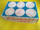 Упаковка Мячи теннисные Ленинград, производитель завод РТИ красный треугольник 1978 г., фото №3