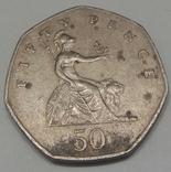 Велика Британія 50 пенсів, 1983 фото 2