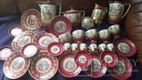 Старинный чайно-кофейный фарфоровый сервиз Старая Венна, фото №2