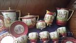 Старинный чайно-кофейный фарфоровый сервиз Старая Венна, фото №3