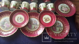 Старинный чайно-кофейный фарфоровый сервиз Старая Венна, фото №7