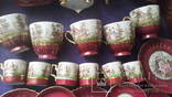 Старинный чайно-кофейный фарфоровый сервиз Старая Венна, фото №8