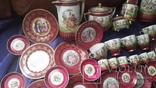 Старинный чайно-кофейный фарфоровый сервиз Старая Венна, фото №11